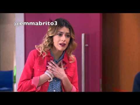Violetta ve a Francesca y Diego besandose 03x45 46
