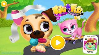 Fun Pet Care - Cute Kitty & Puppy Care - Bath, Dress Up, Colors, Fun Game For Kids Children Toddlers