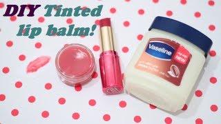 "مرطب شفايف أحمر! سويه بنفسك DIY tinted lip balm ""اسأل مجرب"""