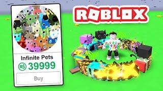 BUYING THE INFINITE PETS GAMEPASS in ROBLOX PET SIMULATOR