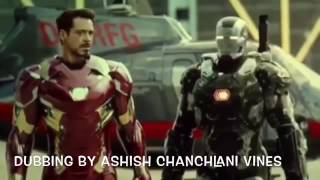 Captain America Civil War hindi dubbed comedy