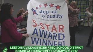 Leetonia Village Schools 5 STAR AWARDS