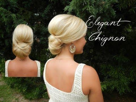Smooth Elegant Volumized Chignon without Heat Long Medium Hair