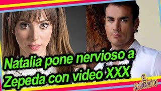 Natalia Tellez incomoda a David Zepeda al hablarle sobre video p0rno