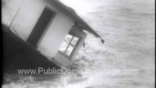 Storms and Floods Hit Europe 1953 Newsreel PublicDomainFootage.com