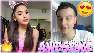 Andrea Brillantes Best Musical.ly Compilation REACTION
