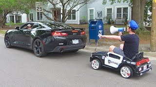 Pulling Cars Over Using A Toy Police Car