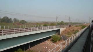 indiantrains@ longest railway bridge near mumbai/train crossing bridge/bhayander,thane,india