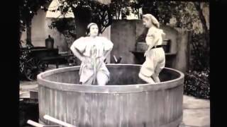Lucy Ricardo stomping grapes