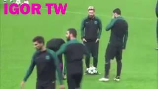 Suarez zuando Neymar-Treino Barcelona-FC