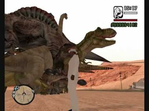 GTA San Andreas Dinosaur and King Kong vs COPS CJ Billy 2
