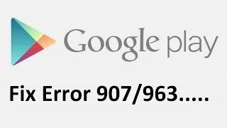 Скачать не могу приложение с плей маркета ошибка 907