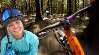 Chasing her around BikePark Wales