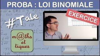 EXERCICE : Calculer une probabilité sur une loi binomiale - Première S