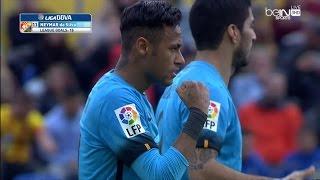 ملخص مبارة لاس بالماس و  برشلونة 1-2 الدوري الإسباني 20-2-2016