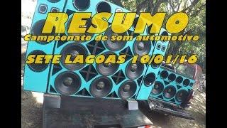 Resumo do campeonato de som automotivo Sete Lagoas 10/01/16
