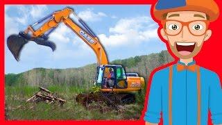 Construction Trucks for Children with Blippi | Excavators for Kids