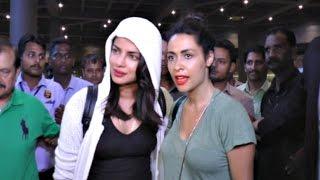 Priyanka Chopra With Quantico Co-Star Yasmine Al Massri At International Airport