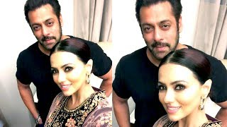 Salman Khan Enjoys a Selfie Moment With Sana Khan