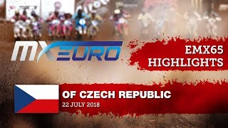 EMX65 Race1 Highlights - Round of Czech Republic 2018