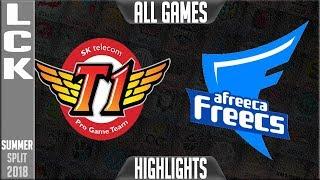SKT vs AFS Highlights ALL GAMES | LCK Summer 2018 Week 1 Day 2 | SK Telecom T1 vs Afreeca Freecs