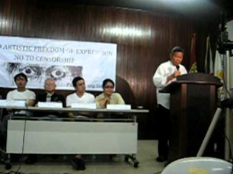 Dr. Nicanor Tiongson' Statement at the Freedom of Expression Press Conference
