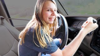😱Daniell's FIRST TIME DRIVING A CAR!!🚔