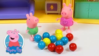 Peppa Pig Teaches Baby George Counting and Colors with Gumballs!