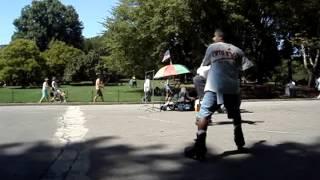 Central Park Skating Dancers PT-2 Me Warming Up !