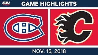 NHL Highlights   Canadiens vs. Flames – Nov. 15, 2018