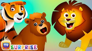 Surprise Eggs Nursery Rhymes Toys | Wheels On The Bus | Wild Animals and Animal Sounds | ChuChu TV