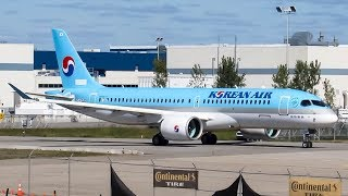 *First Flight!* Korean Air Bombardier CS300 (BCS3) Flight Action in Montreal- Mirabel (YMX/CYMX)