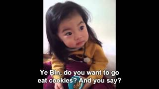 Korean Mom teaches daughter about strangers (subtitles)