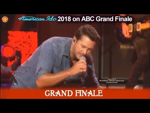 "Download Luke Bryan sings ""Sunshine Sunburn Sunset"" American Idol 2018  Grand Finale free"