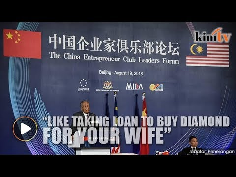 Xxx Mp4 Dr Mahathir ECRL Like Taking Loan To Buy Diamond For Your Wife 3gp Sex