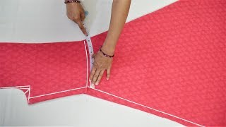Umbrella Suit/Gown Cutting (Step By Step) In Easy Way
