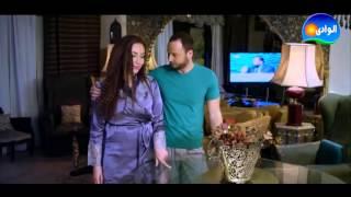 لحظة رومانسيه بين ريهام سعيد و زوجها فى مسلسل الشك