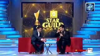 Salman khan comedy with Karan Johar in Star Guild Award