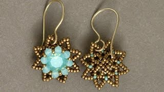 Sidonia's handmade jewelry - Little Stars Swarovski beaded earrings