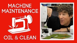 Sewing Machine Maintenance: Oil and Clean