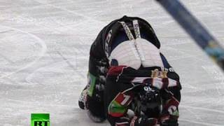Mass Brawl on Ice:  KHL teams fight 6 seconds into game