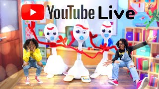 YouTube LIVE with The Froggys - DIY Toy Story 4 Forky   Q&A   Fan Mail