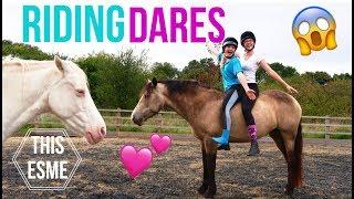 RIDING DARES!!! | This Esme