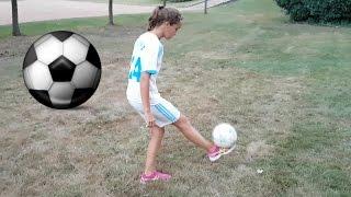FOOTBALL à 12 ans elle enchaîne plus de 30 jongles
