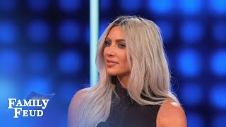 Kim makes Steve's day! | Celebrity Family Feud