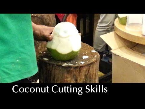 Amazing Coconut Cutting Skills - Flesh & Juice Intact!