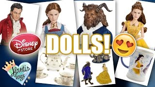 DISNEY STORE Beauty and The Beast Live Action Dolls & Merchandise | REACTION / Thoughts - JChat