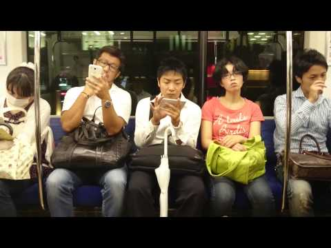 Japan, Tokyo - Sleeping on the train