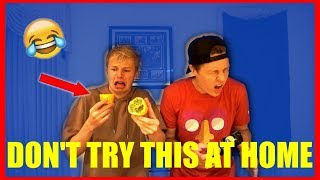 TRYING WEIRD FOODS WITH MY ROOMMATE!!!