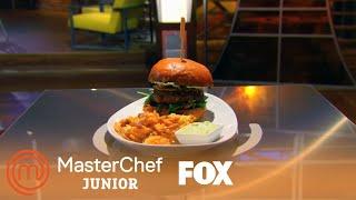 Kaylen's Bacon Burger   Season 1 Ep. 2   MASTERCHEF JUNIOR